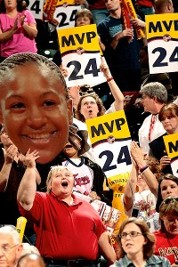 The 2011 WNBA MVP, Catchings is an Indiana fan favorite.