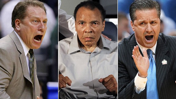 Tom Izzo/Muhammad Ali/John Calipari