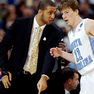 UNC's Kendall Marshall and Stilman White