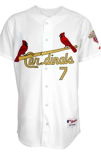 St. Louis Cardinals gold jerseys