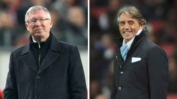 Alex Ferguson and Roberto Mancini