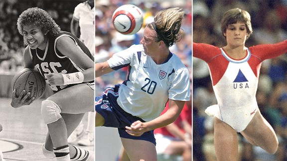 Cheryl Miller, Abby Wambach and Mary Lou Retton are all contenders for our list.