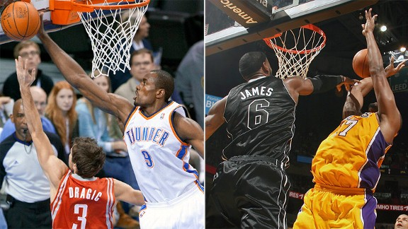 Serge Ibaka and LeBron James