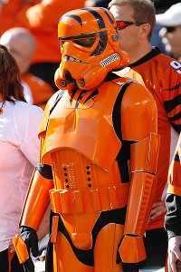 Bengals fan dressed as a Star Wars Stormtrooper