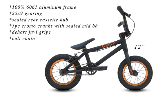 Cult's new 12-inch complete is aimed at the aspiring BMXer and tested by mini shredder Max Vu.