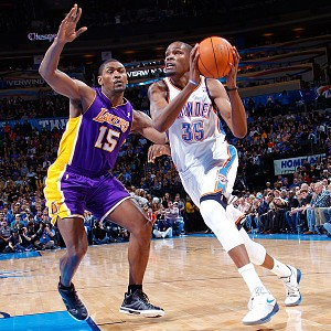 Kevin Durant and Metta World Peace