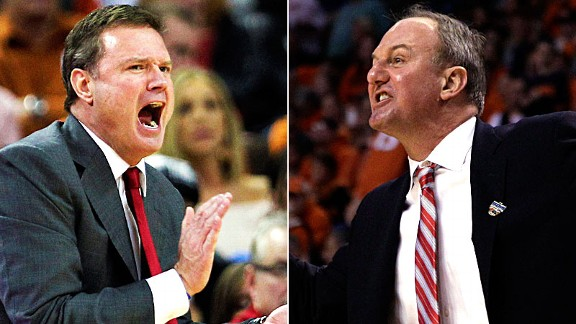 Bill Self and Thad Matta