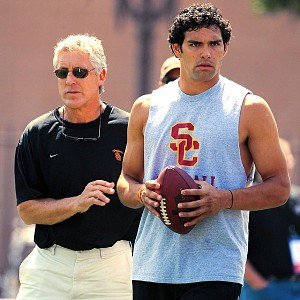 Pete Carroll and Mark Sanchez