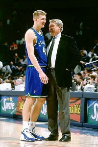 Don Nelson and Dirk Nowitzki