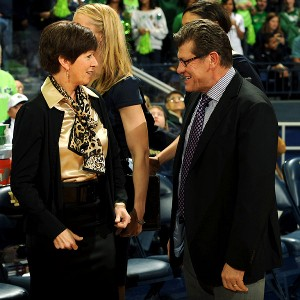 Muffet McGraw, Geno Auriemma