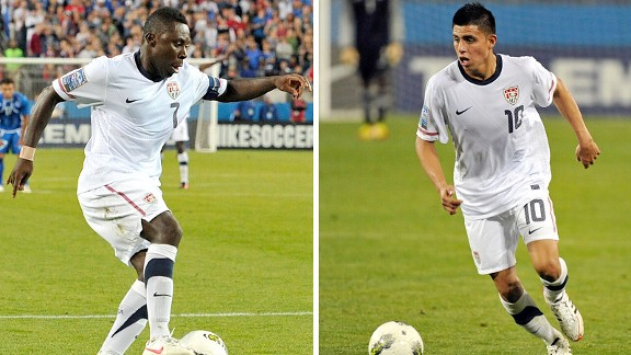 Freddy Adu and Teal Bunbury