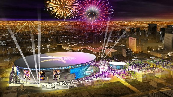 Peek at vikings 39 stadium proposal nfc north espn for 121 next door north salem ny