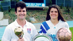 Anson Dorrance and Mia Hamm