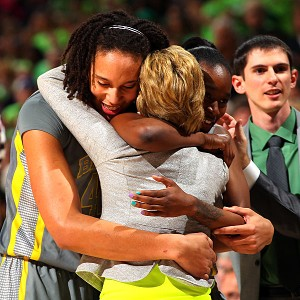 Brittney Griner and Jordan Madden