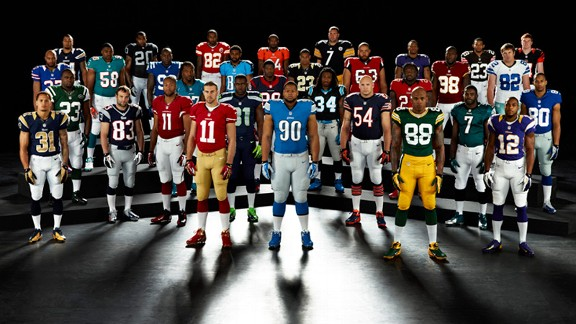 2012 Nike NFL team uniforms