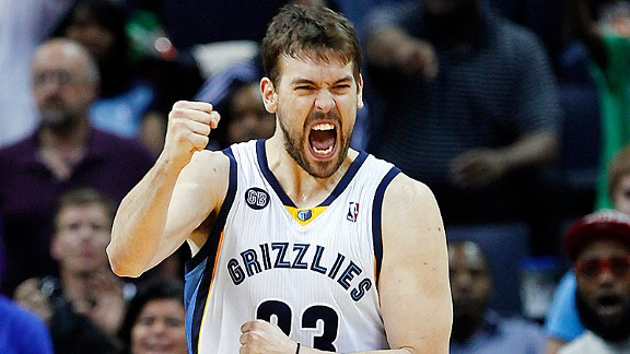 Marc Gasol with the Memphis Grizzlies