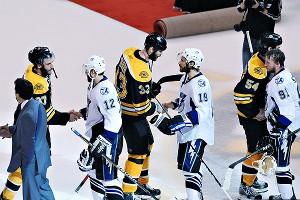 Bruins Handshake