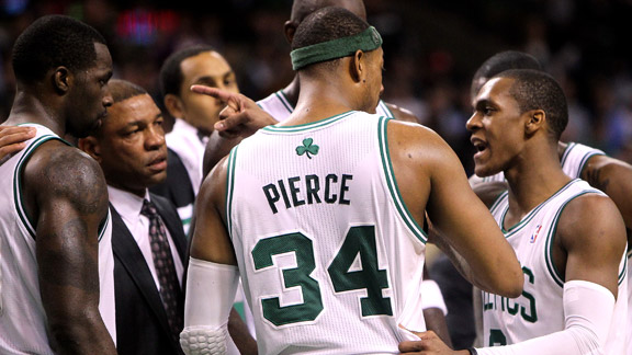 Rajon Rondo, Paul Pierce, Doc Rivers