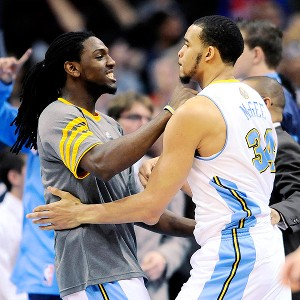 JaVale McGee and Kenneth Faried