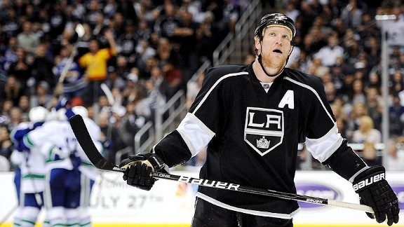 Matt Greene of the Los Angeles Kings
