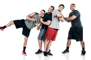 Coby Fleener, David DeCastro, Andrew Luck and Jonathan Martin
