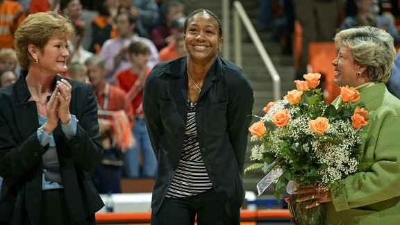 Tamika Catchings keeps in touch with her old coach and says Pat Summitt helped shape the person she is today.
