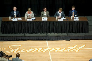 Jimmy Cheek , Holly Warlick , Dave Hart , Pat Summitt, Tyler Summitt