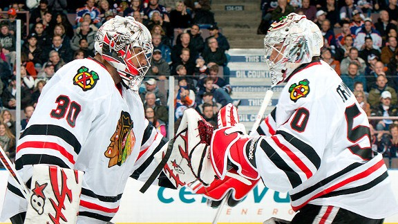 Ray Emery and Corey Crawford
