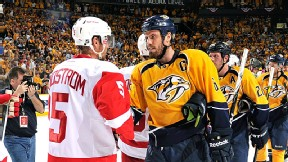 Nicklas Lidstrom and Shea Weber