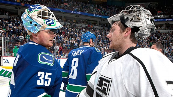 Cory Schneider and Jonathan Quick