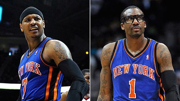 Carmelo Anthony and Amare Stoudamire