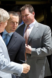 Roger Clemens and attorneys
