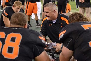 Oklahoma State Cowboys offensive line coach Joe Wickline
