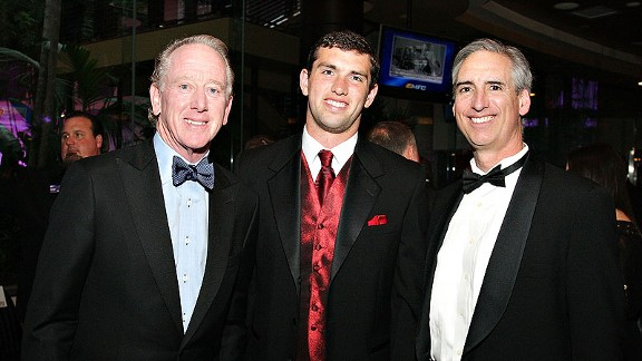 Archie Manning, Andrew Luck and Oliver Luck at the 75th annual Maxwell Football Club awards dinner last month in Atlantic City, N.J.