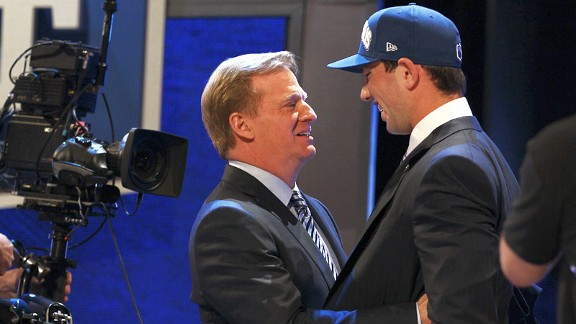 Andrew Luck and Roger Goodell