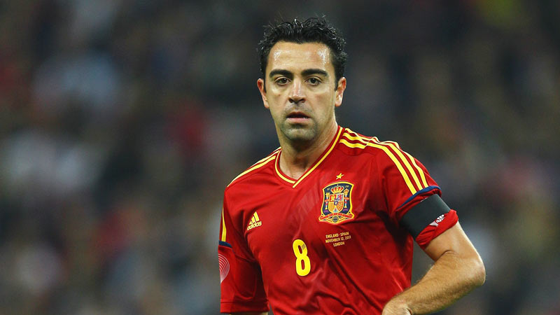 Xavi of Spain in action during the international friendly match between England and Spain at Wembley Stadium on November 12, 2011 in London, England.