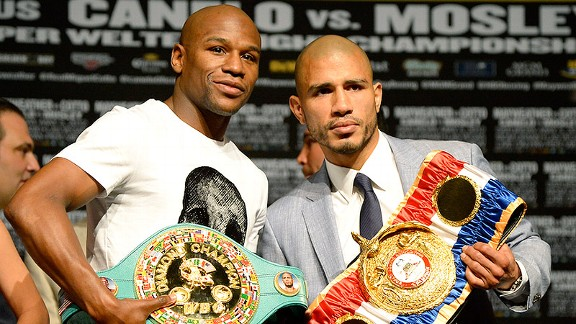 Mayweather-Cotto belts