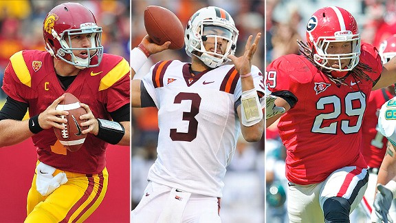 Matt Barkley, Logan Thomas and Jarvis Jones