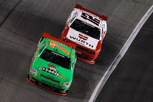 Danica Patrick and Sam Hornish Jr.