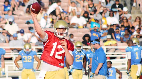 UCLA quarterback Richard Brehaut.