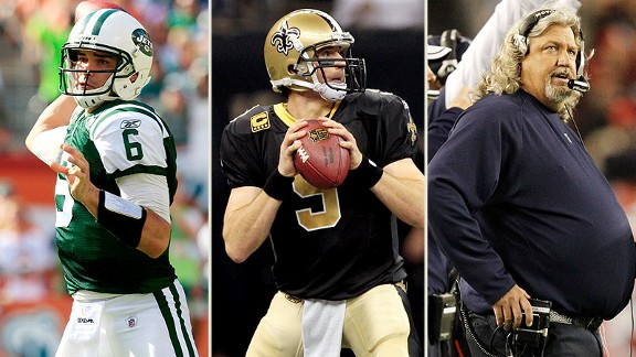 Mark Sanchez, Drew Brees, Rob Ryan