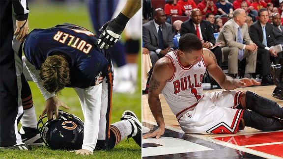 Jay Cutler and Derrick Rose 