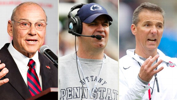 John L Smith,  Bill O'Brien, Urban Meyer
