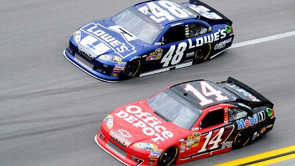 Tony Stewart and Jimmie Johnson