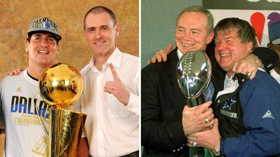 Mark Cuban, Rick Carlisle, Jerry Jones, Jimmy Johnson