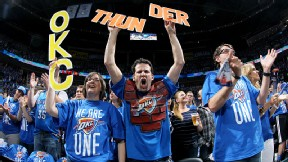 Oklahoma City Thunder fans