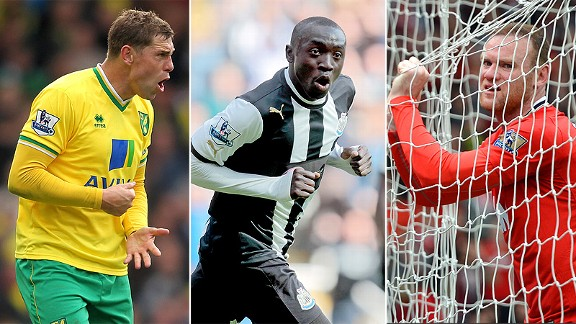 Grant Holt, Papiss Demba Cisse and Wayne Rooney