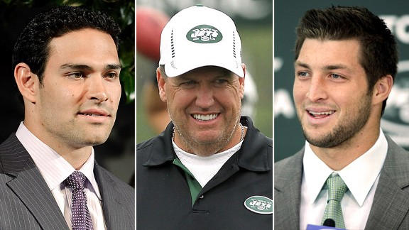 Mark Sanchez, Rex Ryan, Tim Tebow