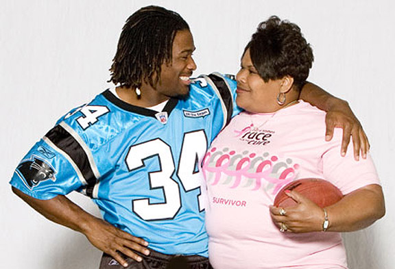 DeAngelo Williams with his mom