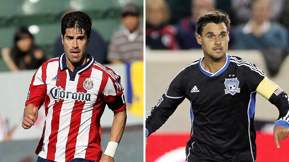 Juan Pablo Angel and Chris Wondolowski